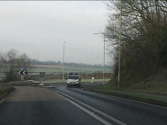Roundabout on the A458