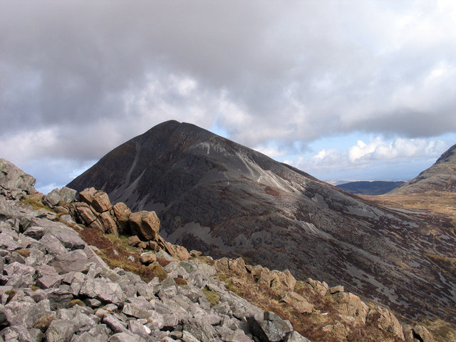 Bouldery east ridge of Beinn a' Chaolais