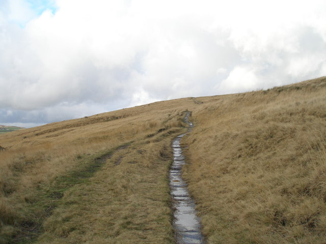 Paved section of Pennine Bridleway near Rake End