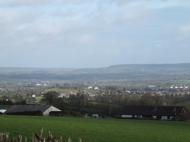 Gladlands Farm and Cullompton beyond