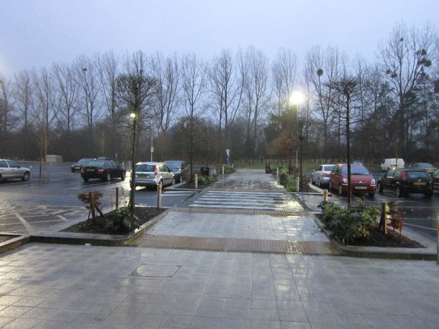 The car park at Beaconsfield services. M4, Jnt2