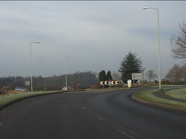 Roundabout on the A454
