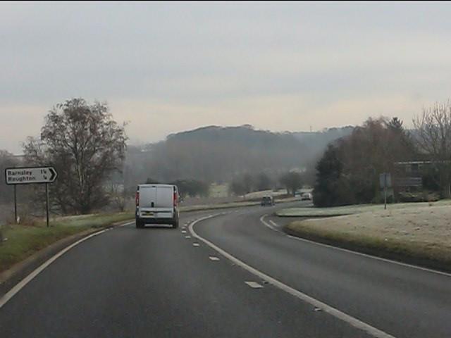 A454 at the junction for Roughton