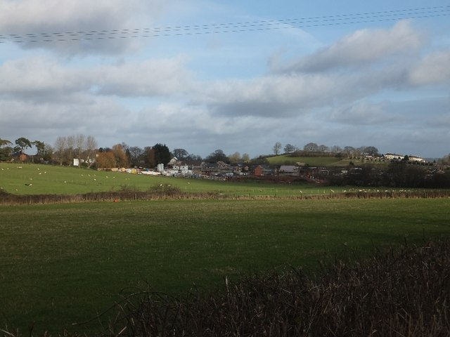 New housing estate under construction on west of Cullompton