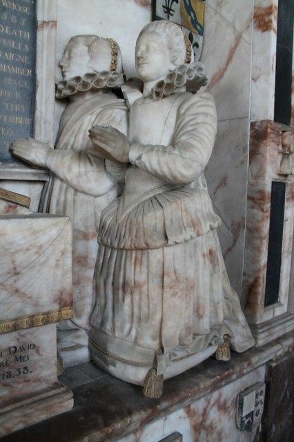 Anne & Jane Heneage, memorial, St Mary's church, Hainton