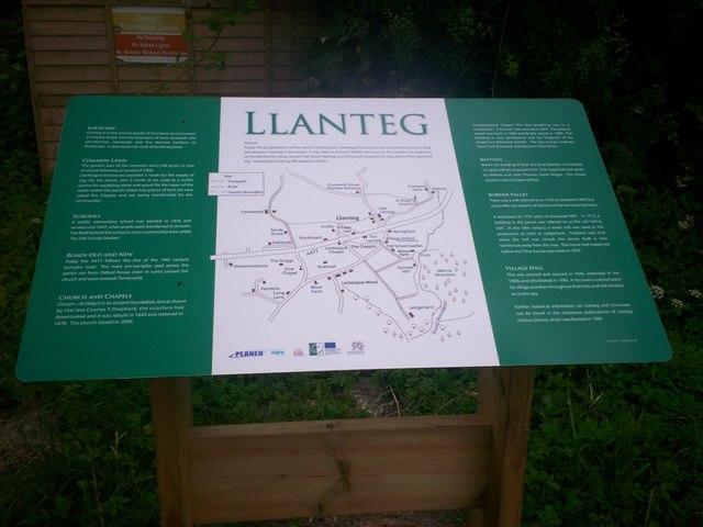 Information Board, Llanteg Hall.