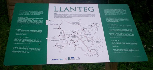 Information Board, Llanteg Hall