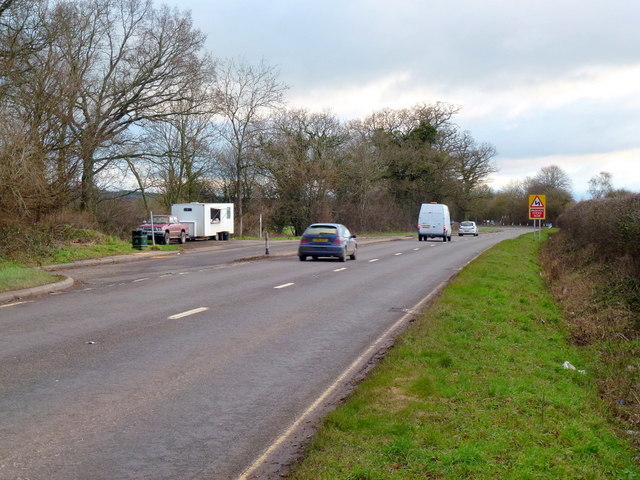 Lay-by on the A465