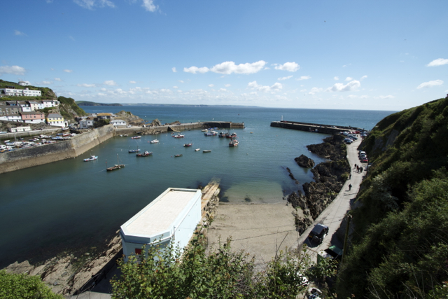 Mevagissey Outer Harbour and old Lifeboat slip