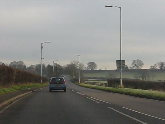 A454 east of Rudge Heath
