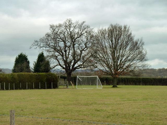 A goal by Hilden Farm