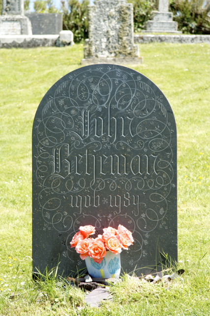 Poet John Betjeman's grave at St Enodoc's Church