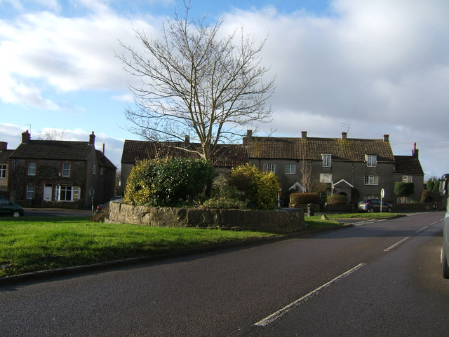 Houses fronting Tockington Village Green