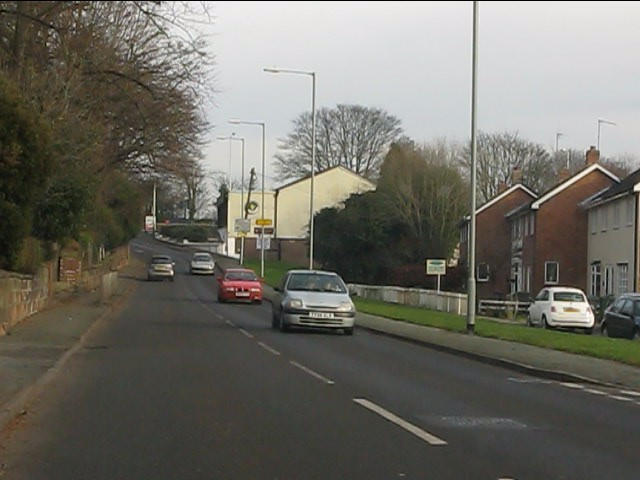 The northern end of Henwood Road