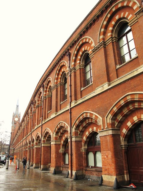 The east side of (the old part of) St. Pancras Station (2)