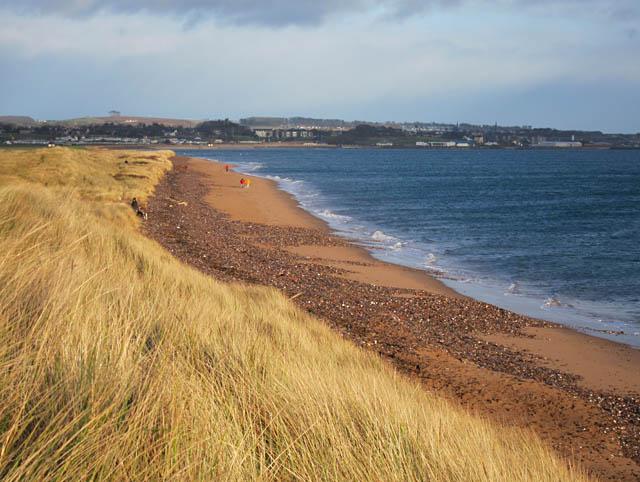 Sunlit beach near Elliot