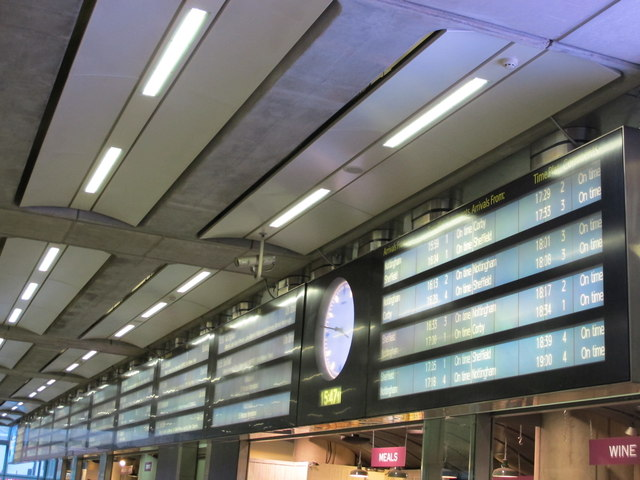 The northern booking hall of St.Pancras International
