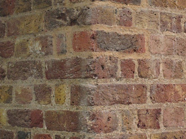 Bricks in a wall of St. Pancras Station