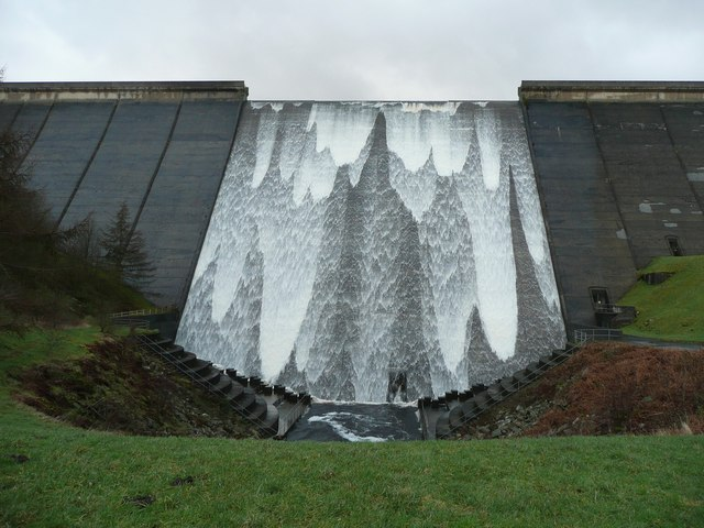 Booth Wood Reservoir spillway in action