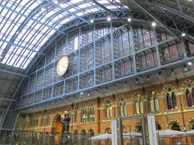 St. Pancras Station roof, southern end
