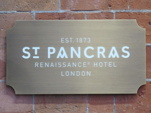 Sign for the St. Pancras Renaissance London Hotel, Euston Road, NW1