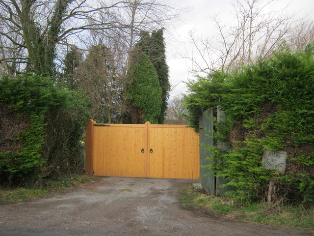 Entrance to Jolby Nurseries off Jolby Lane