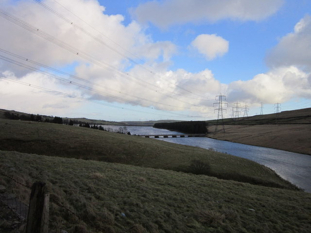 Baitings Reservoir from the Rochdale Road