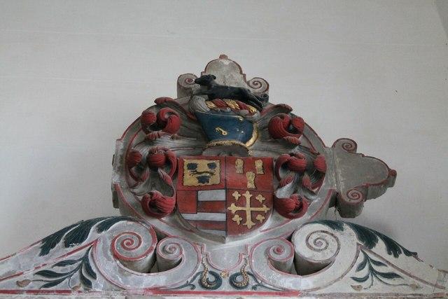 Heneage Crest on John Heneage tomb