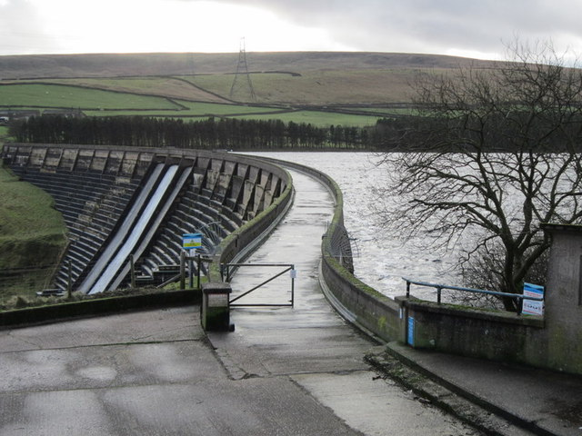The path over Baitings Reservoir