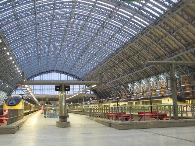 St. Pancras Station - Eurostar platforms