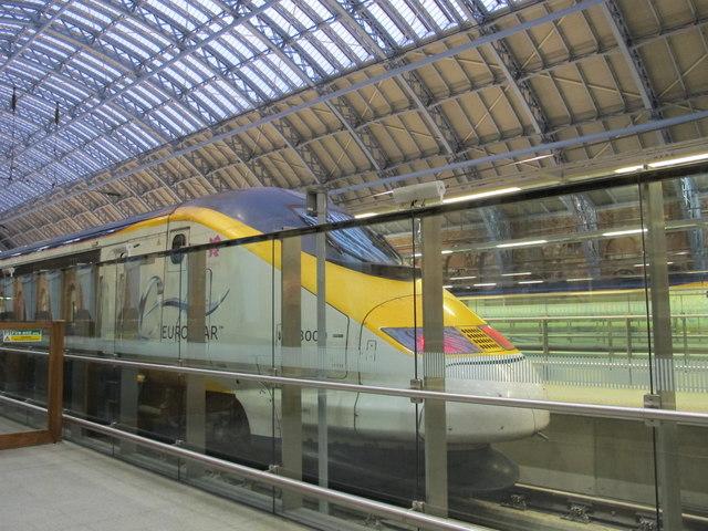 St. Pancras Station - Eurostar train