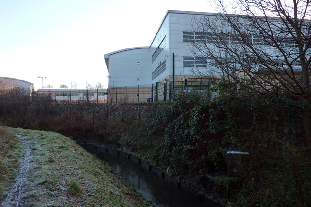 Chorlton Brook at the rear of Chorlton High School