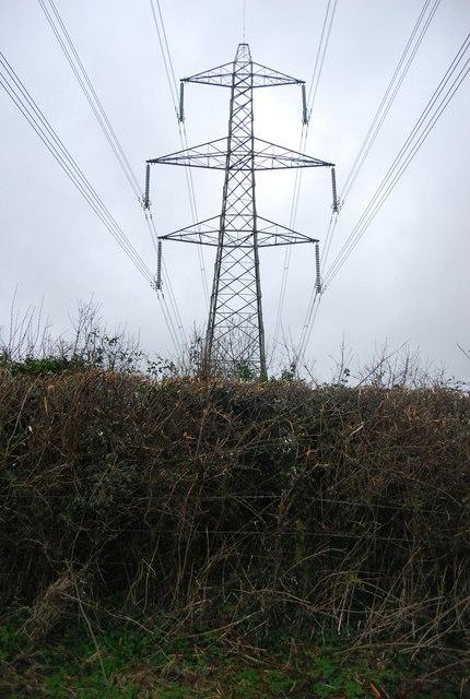 Pylon south of Winterbourne Abbas