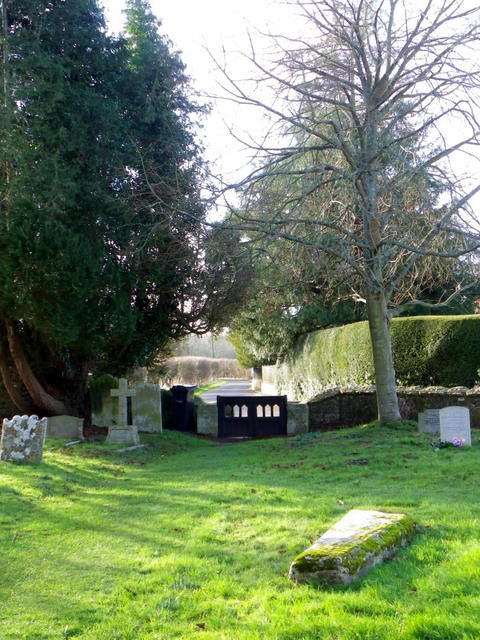 Churchyard view, Britford