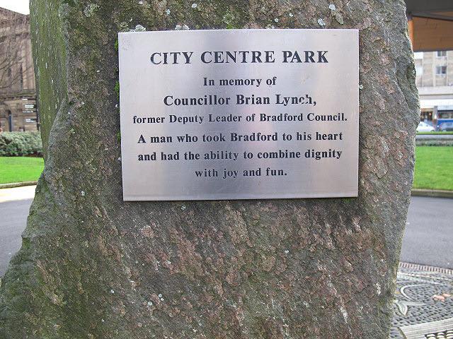 City Centre Park; Lynch plaque
