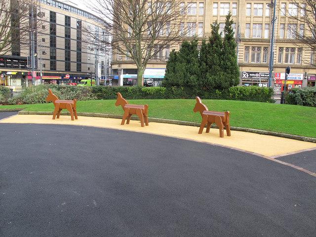 City centre donkeys
