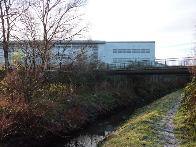 Buildings at Chorlton High School, and Chorlton Brook