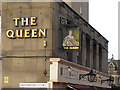 SE1632 : Inn sign on The Queen by Stephen Craven