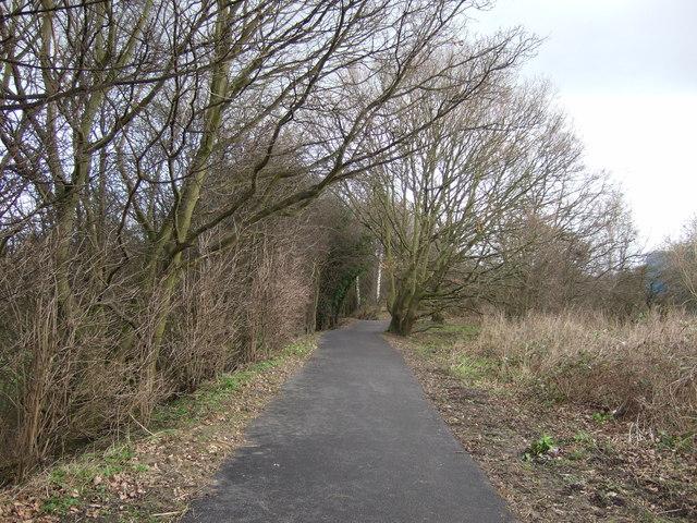 Cycle track towards Knaresborough
