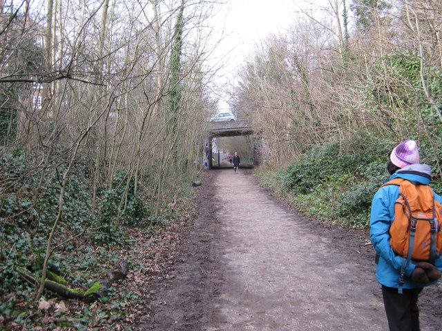 View along Parkland Walk, looking west