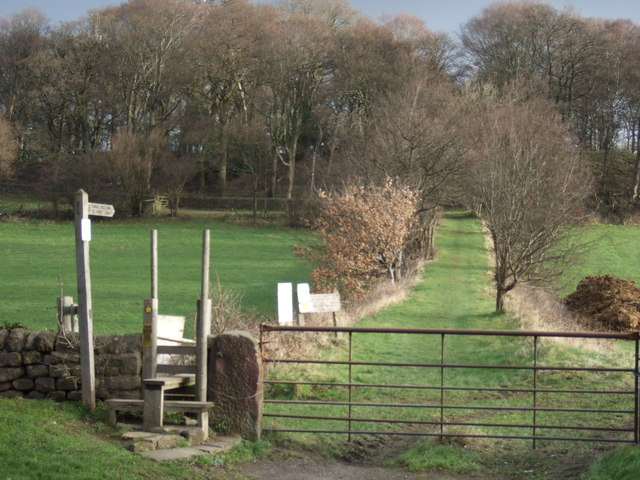 Footpath off the A61