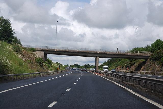 Overbridge junction 10, M74