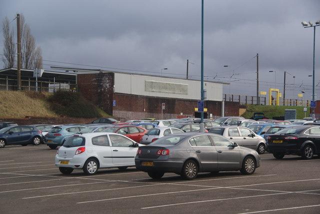 The car park at Radcliffe Metrolink station