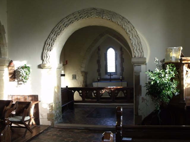 Norman chancel arch, St. Bartholomew's, Albourne