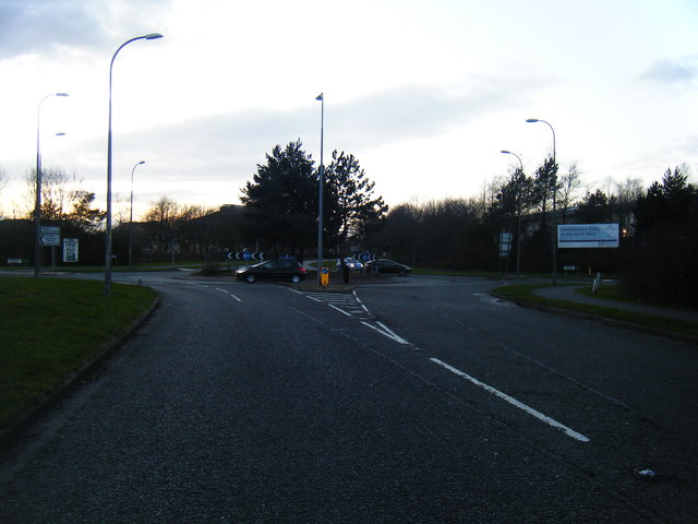 Callands Road/Cromwell Avenue roundabout