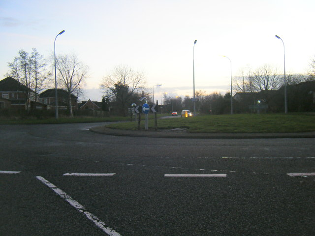 Lingley Green Avenue roundabout