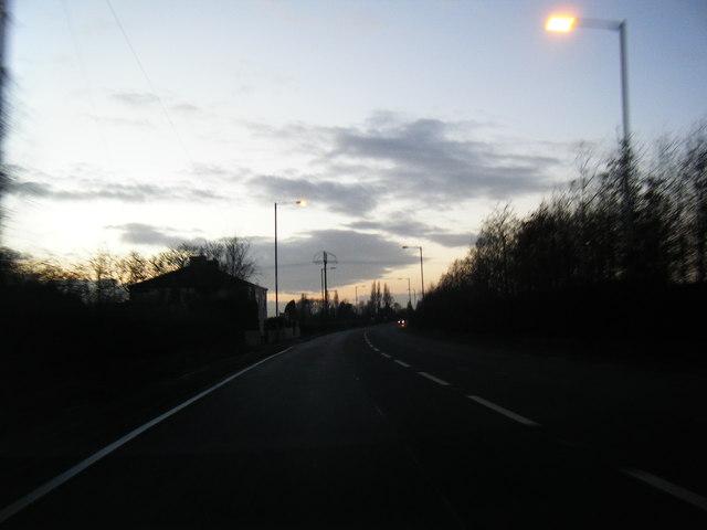 A57 Warrington Road looking west