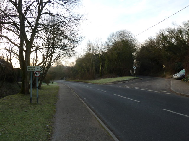 Junction of the Newton Valence road with the B3006