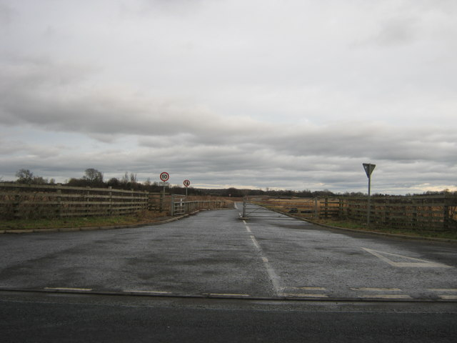 Entrance from Croft Road to sewage treatment works