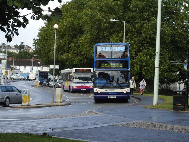 Buses in Kingsley Road, Bideford